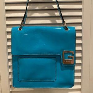 Blue Guess Shoulder Bag